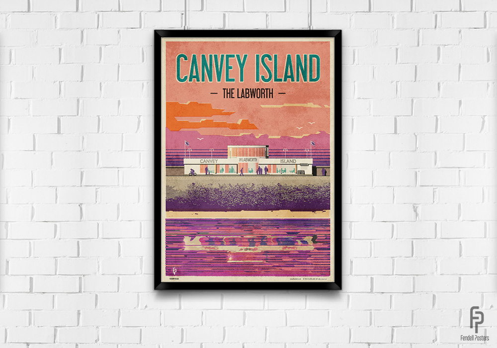 Canvey Island - The Labworth - A2 Framed
