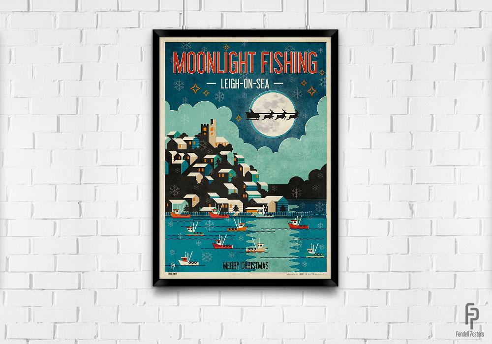 7 Moonlight Fishing Poster Mock-up 02 700x1000.jpg