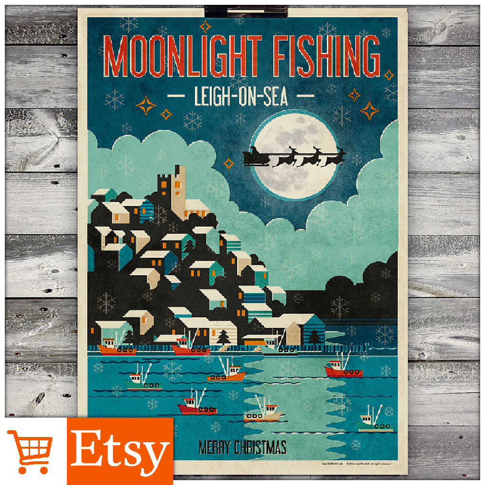 Moonlight Fishing - A2 & A4 Posters