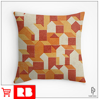 Little Houses Pattern - Throw Pillow