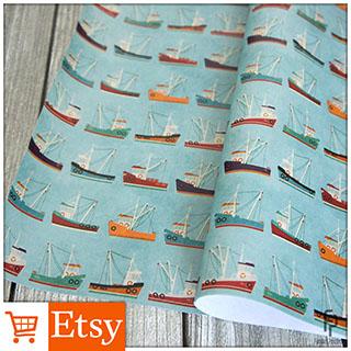 Fishing Trawler - Wrapping Paper