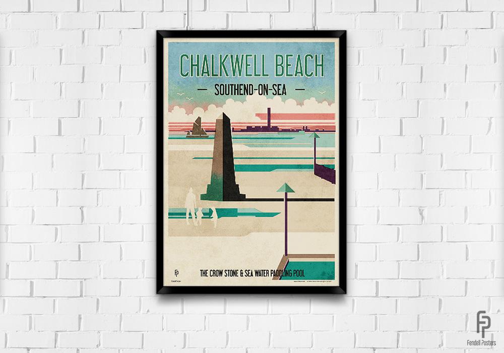 Chalkwell Beach - A2 Framed