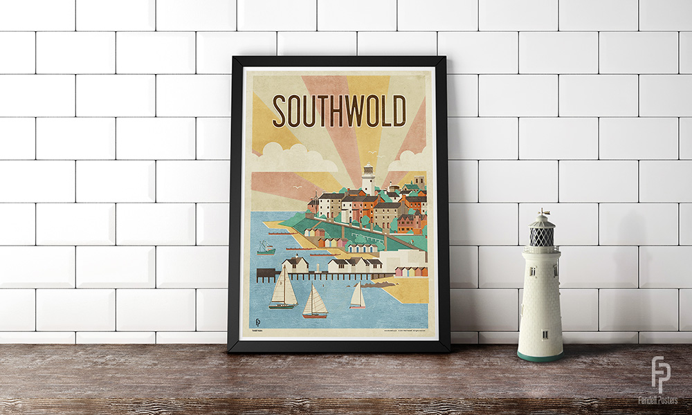 Southwold Poster by Neil Fendell