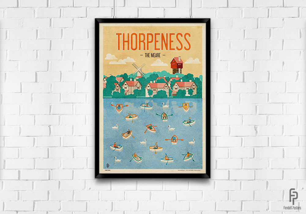 Thorpeness A2 Framed Poster by Neil Fendell