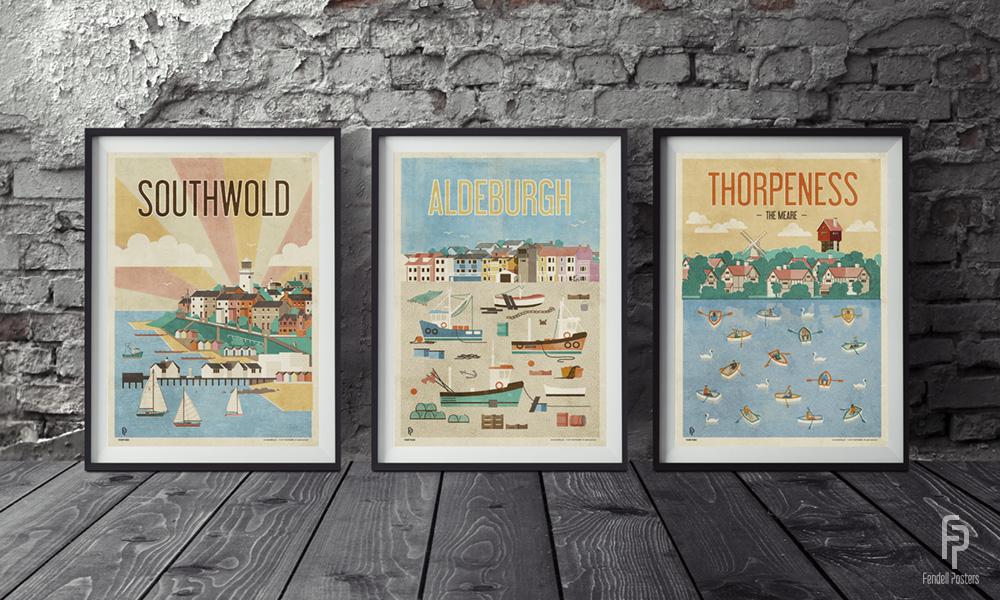 Fendell Posters - Suffolk Set by Neil Fendell