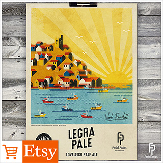 Leigh-on-Sea Brewery - Legra Pale A2 & A4 Posters
