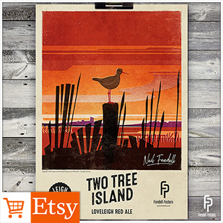 Leigh-on-Sea Brewery - Two Tree Island A2 & A4 Posters