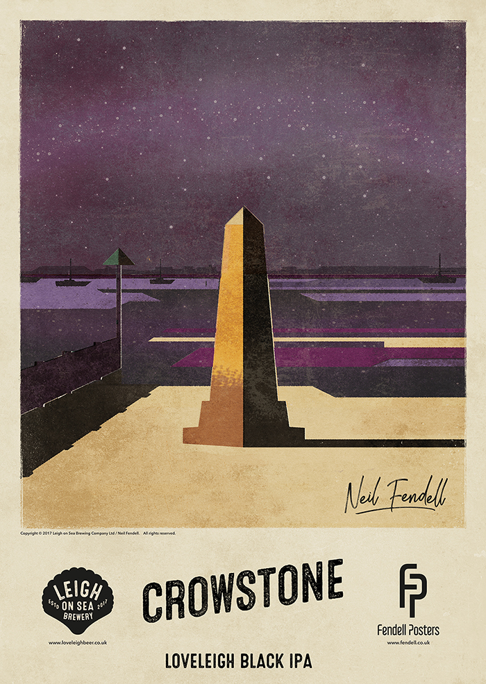 Leigh on Sea Brewery Posters - Crowstone - by Neil Fendell