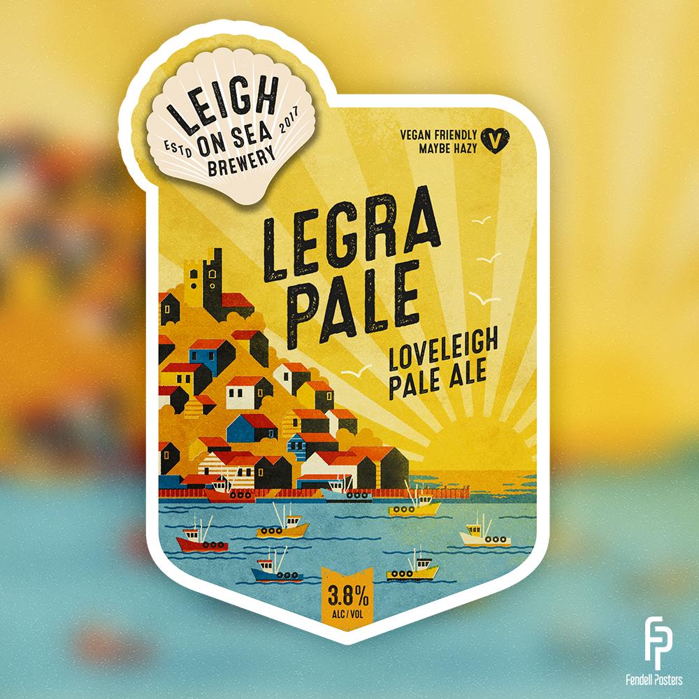 Leigh-on-Sea Brewery - Legra Pale Pump Clip