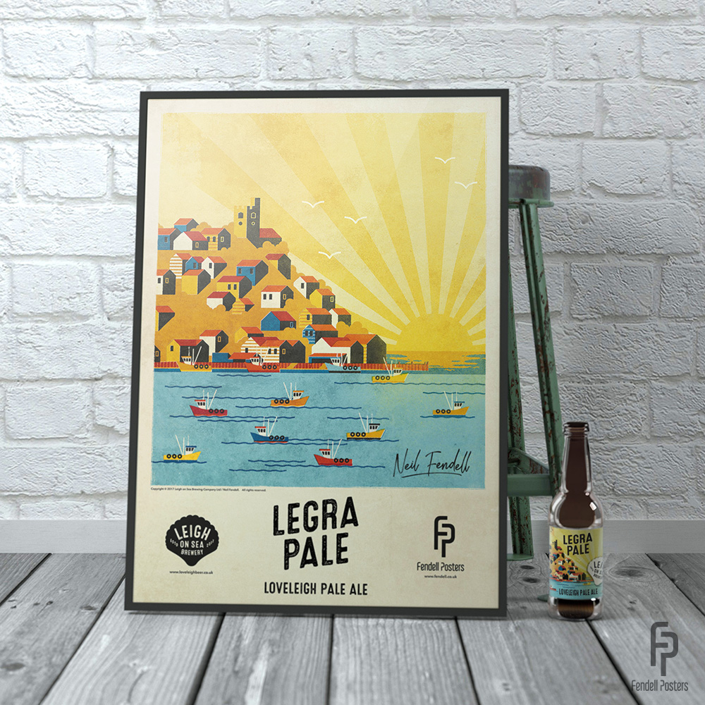 Leigh-on-Sea Brewery - Legra Pale A2 Framed Poster