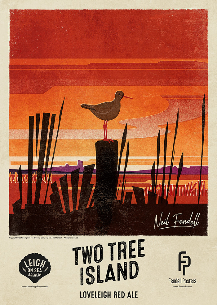 Leigh-on-Sea Brewery - Two Tree Island - Poster