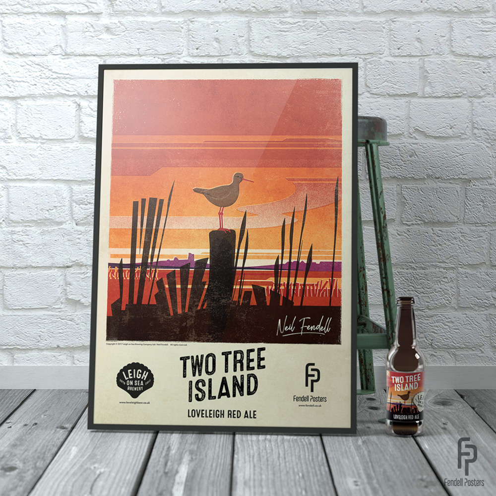 Leigh-on-Sea Brewery - Two Tree Island A2 Framed Poster