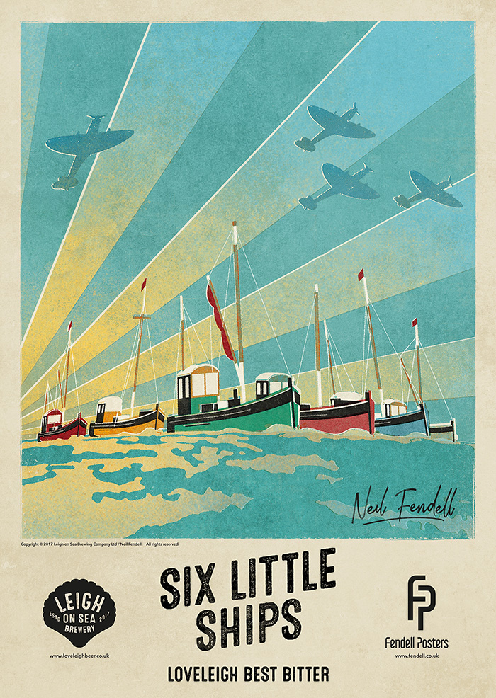Leigh-on-Sea Brewery - Six Little Ships - Poster