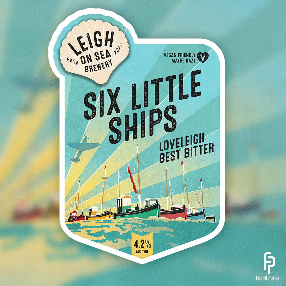 Leigh-on-Sea Brewery - Six Little Ships Pump Clip
