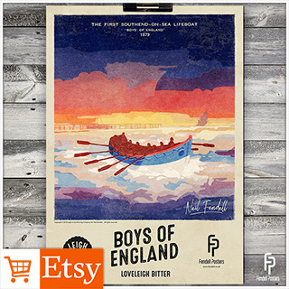 Leigh-on-Sea Brewery - Boys of England A2 & A4 Posters