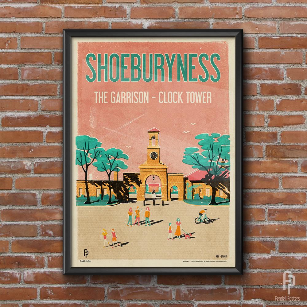 Shoeburyness - The Garrison - Clock Tower Poster by Neil Fendell