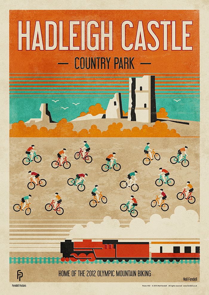 Hadleigh Castle - Country Park Poster by Neil Fendell