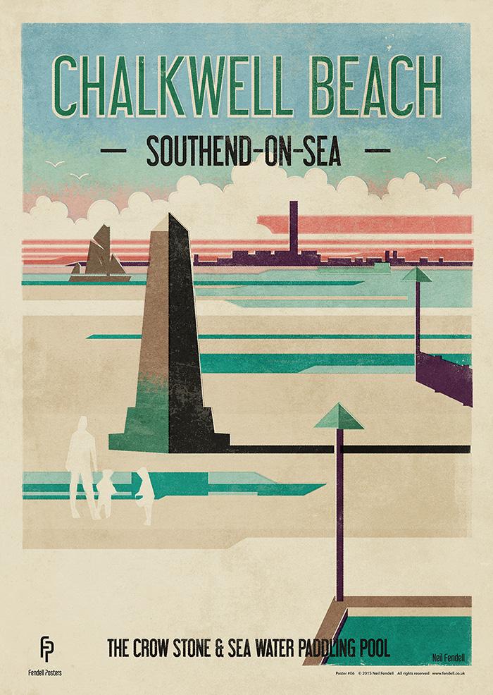 Chalkwell Beach Poster by Neil Fendell