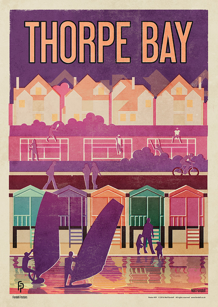 Thorpe Bay poster by Neil Fendell