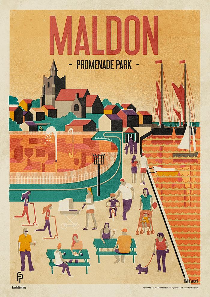 Maldon - Promenade Park poster by Neil Fendell