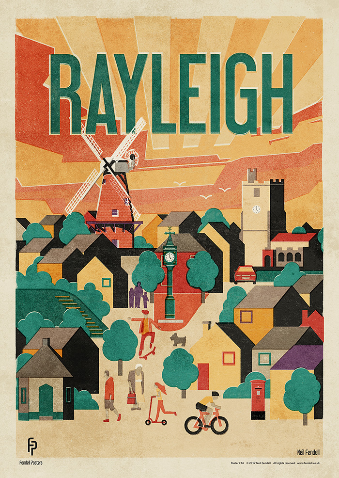Rayleigh Poster Artwork by Neil Fendell