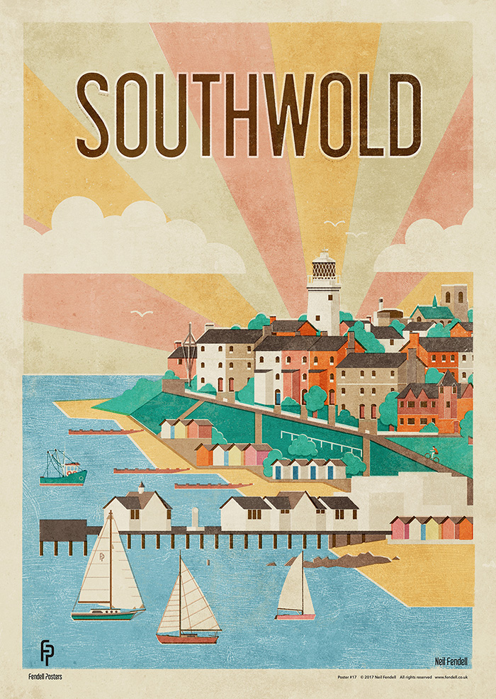 Southwold, Suffolk, UK. Poster by Neil Fendell