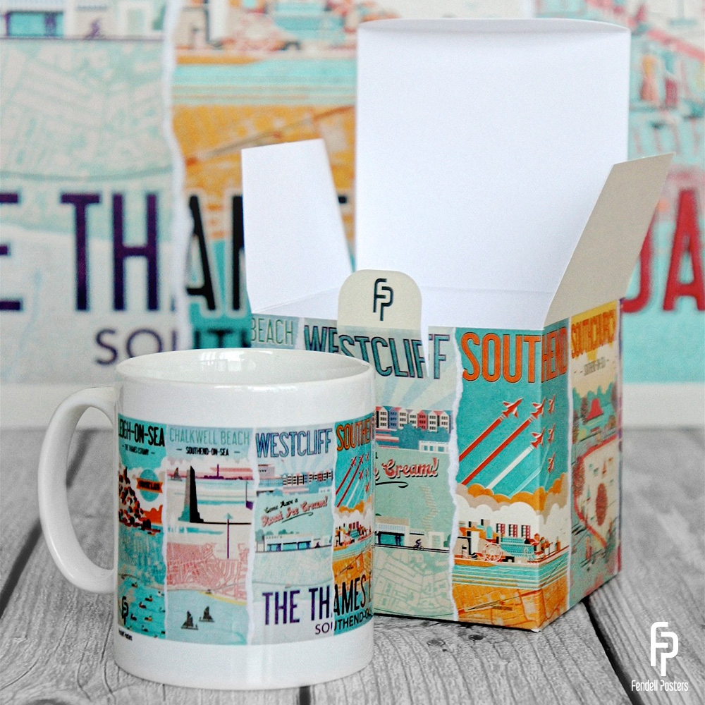 Thames Estuary Mug & Gift Box by Neil Fendell