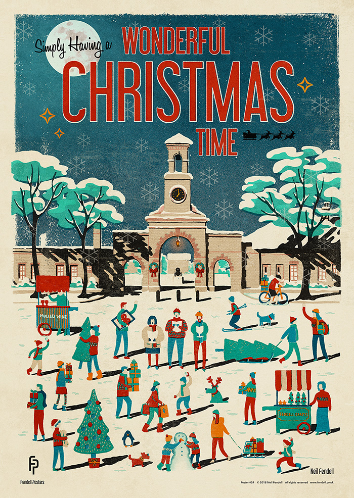Wonderful Christmas Time Poster by Neil Fendell