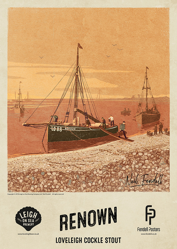 Leigh on Sea Brewery Posters - Renown - by Neil Fendell