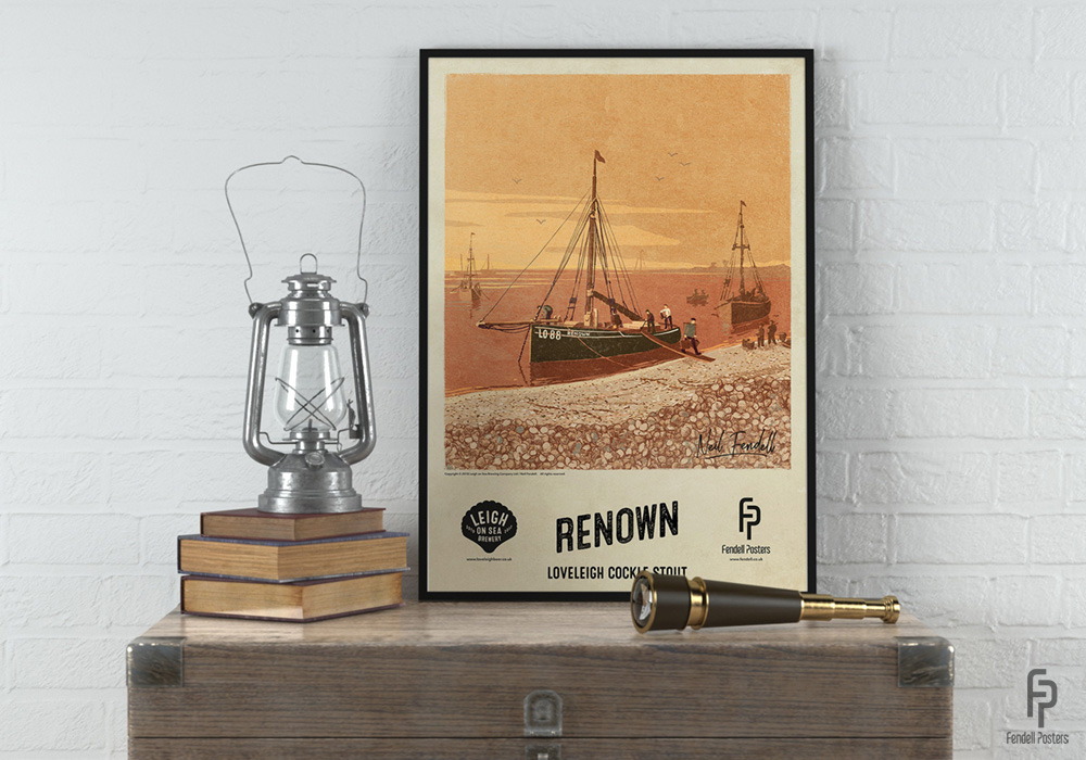 Leigh-on-Sea Brewery Framed Renown A2 Poster by Neil Fendell