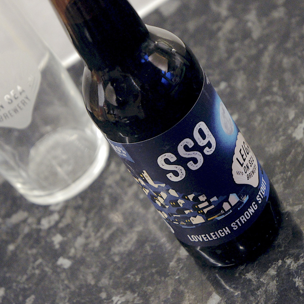 Leigh-on-Sea Brewery SS9 Bottle Label by Neil Fendell