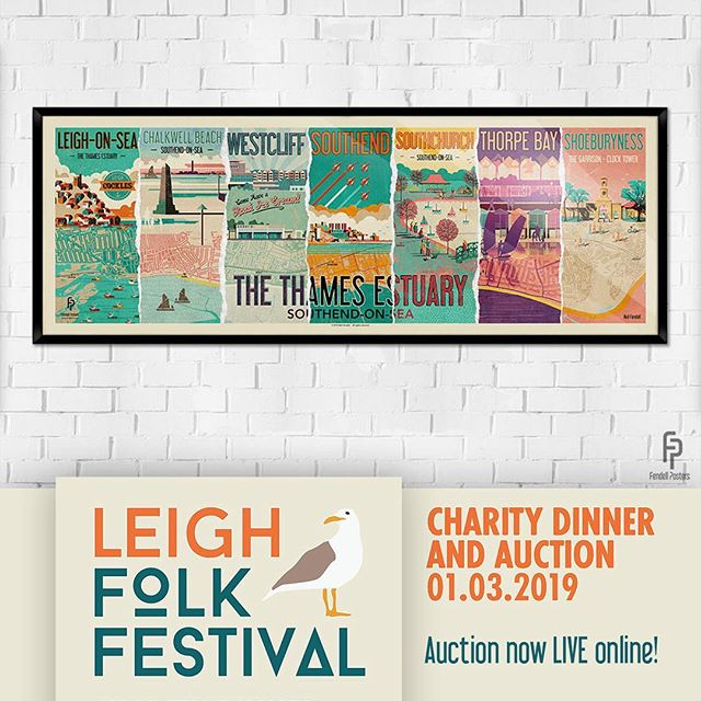 Get your hands on this awesome prize! I've donated a Thames Estuary large signed framed print to the Leigh Folk Festival auction to help them raise essential funds to keep the festival free for all to attend. Head over and bid now for your chance to win! @leighfolkfestival