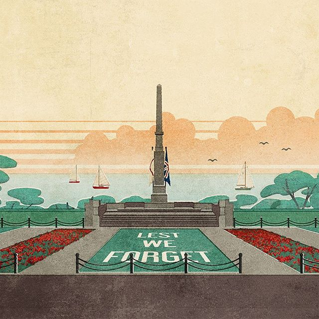 Southend War Memorial Illustration specially designed for @clifftowntelephonemuseum  #clifftownconservationarea #southendonsea #warmemorial