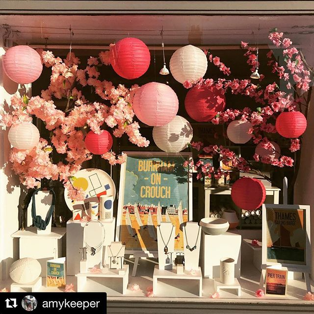 Has Spring finally Sprung? Well it certainly has at the Amy Keeper Gallery in Burnham-on-Crouch.  #Repost @amykeeper with @get_repost ・・・ The cherry blossom looking fab in the afternoon sun!! Another beautiful day in Burnham-on-Crouch!  #windowdisplay #thinkpink