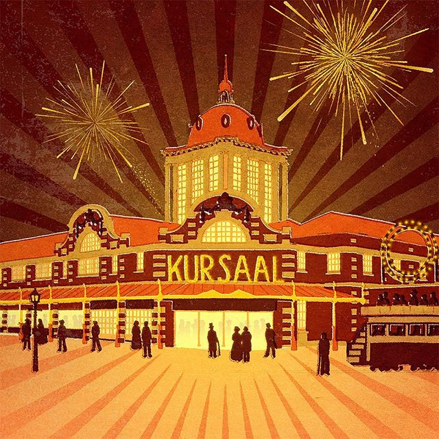 New artwork for a new beer! Yes, the boys at @losbrewery are busy brewing a new golden ale. This time inspired by the historical Kursaal Southend-on-Sea. #fendellposters #kursaalsouthend #southendonsea