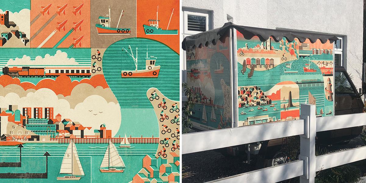 Fendell Posters Coffee Van in Leigh