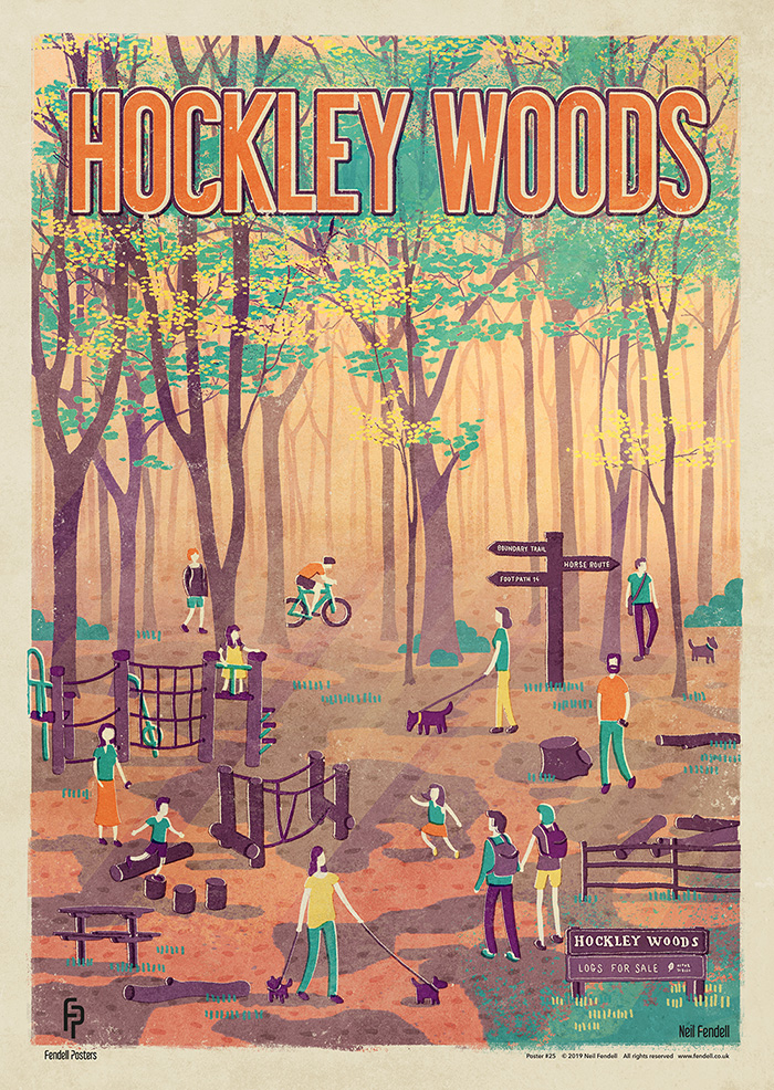 Hockley Woods Poster Artwork by Neil Fendell