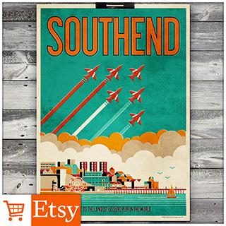 Southend - Poster (A4 & A2 Sizes)