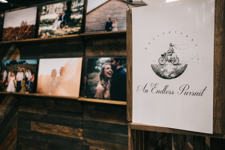 Photography bridal show exhibit sign