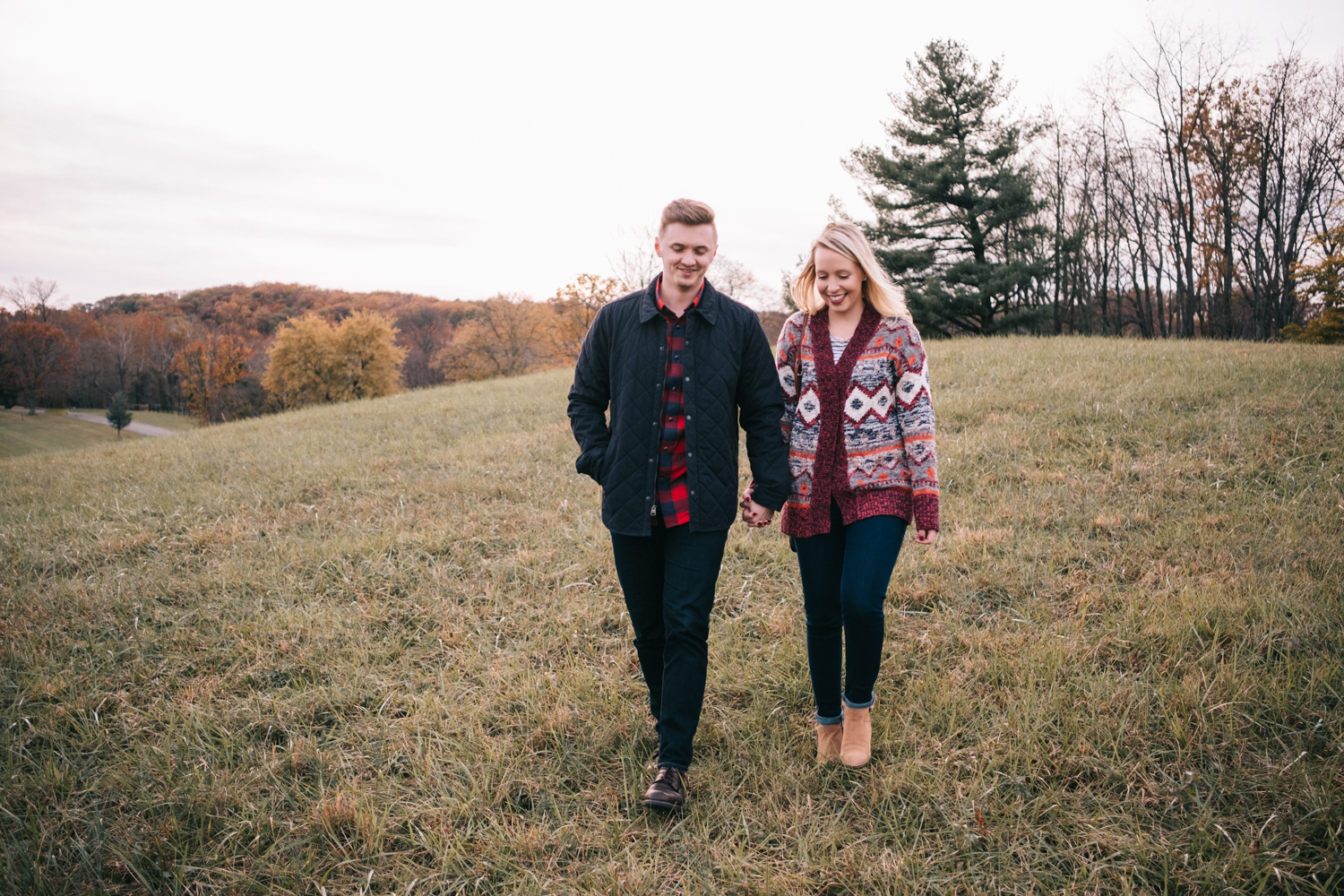 morven park fall engagement picture