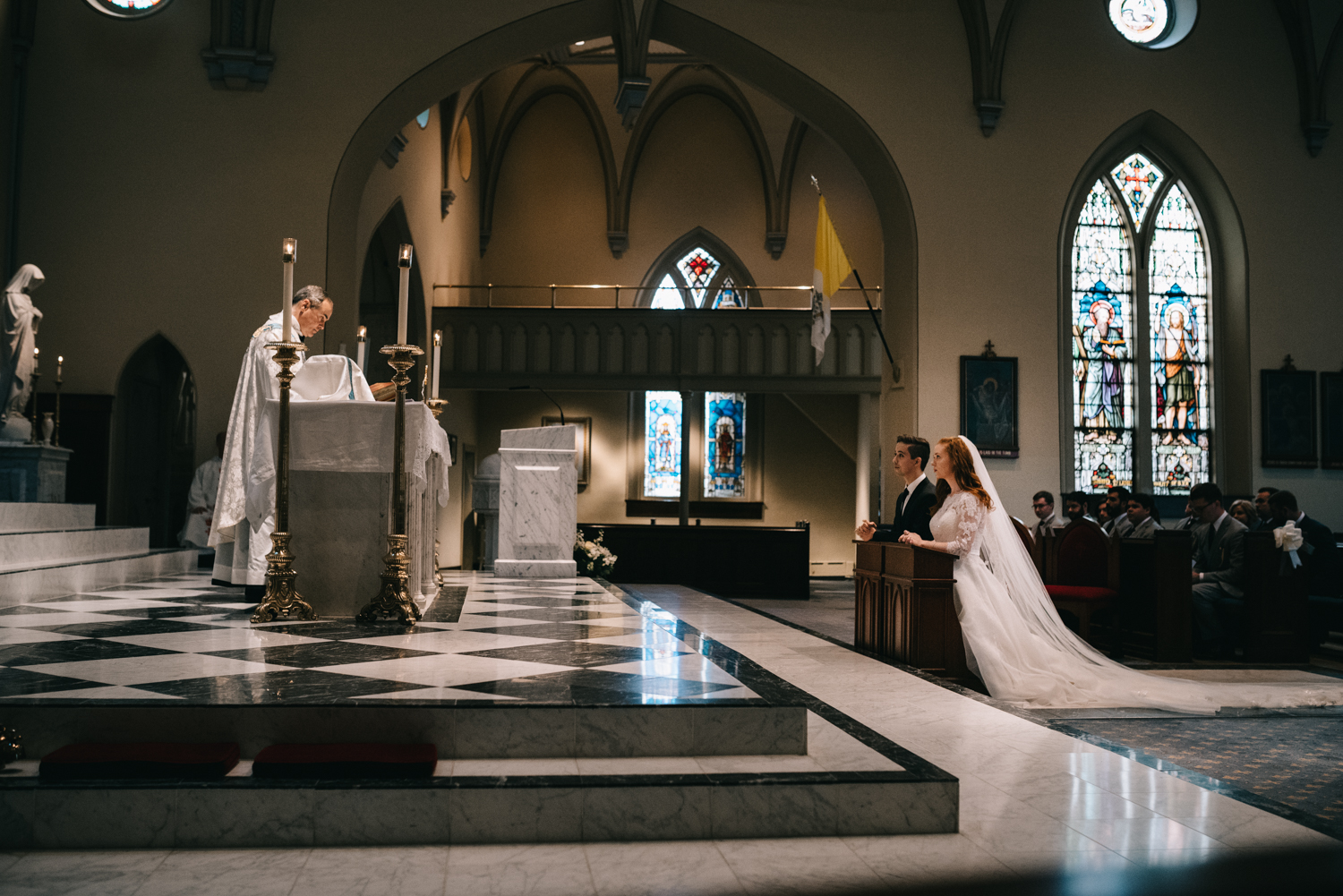 catholic wedding old town saint marys