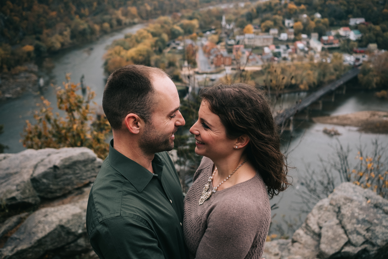 harpers ferry engagement maryland heights adventure couple
