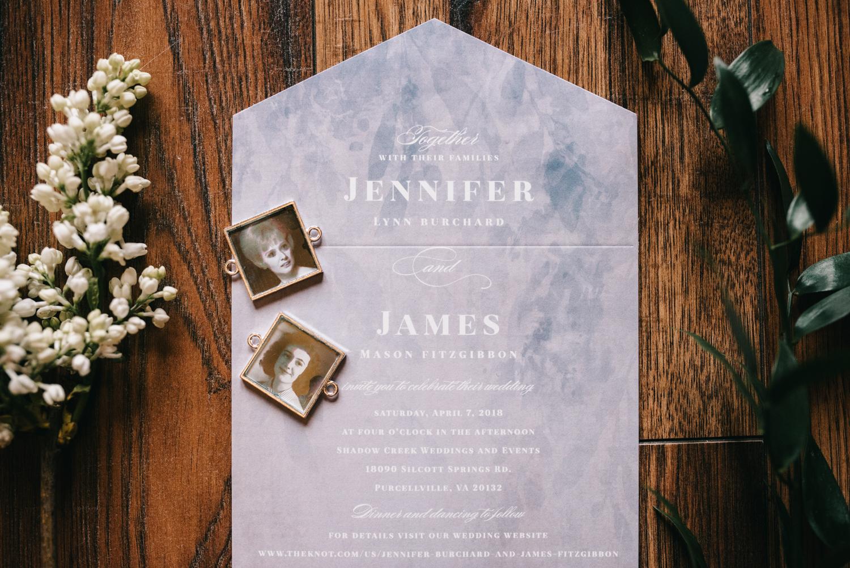 shadow creek wedding stationary details