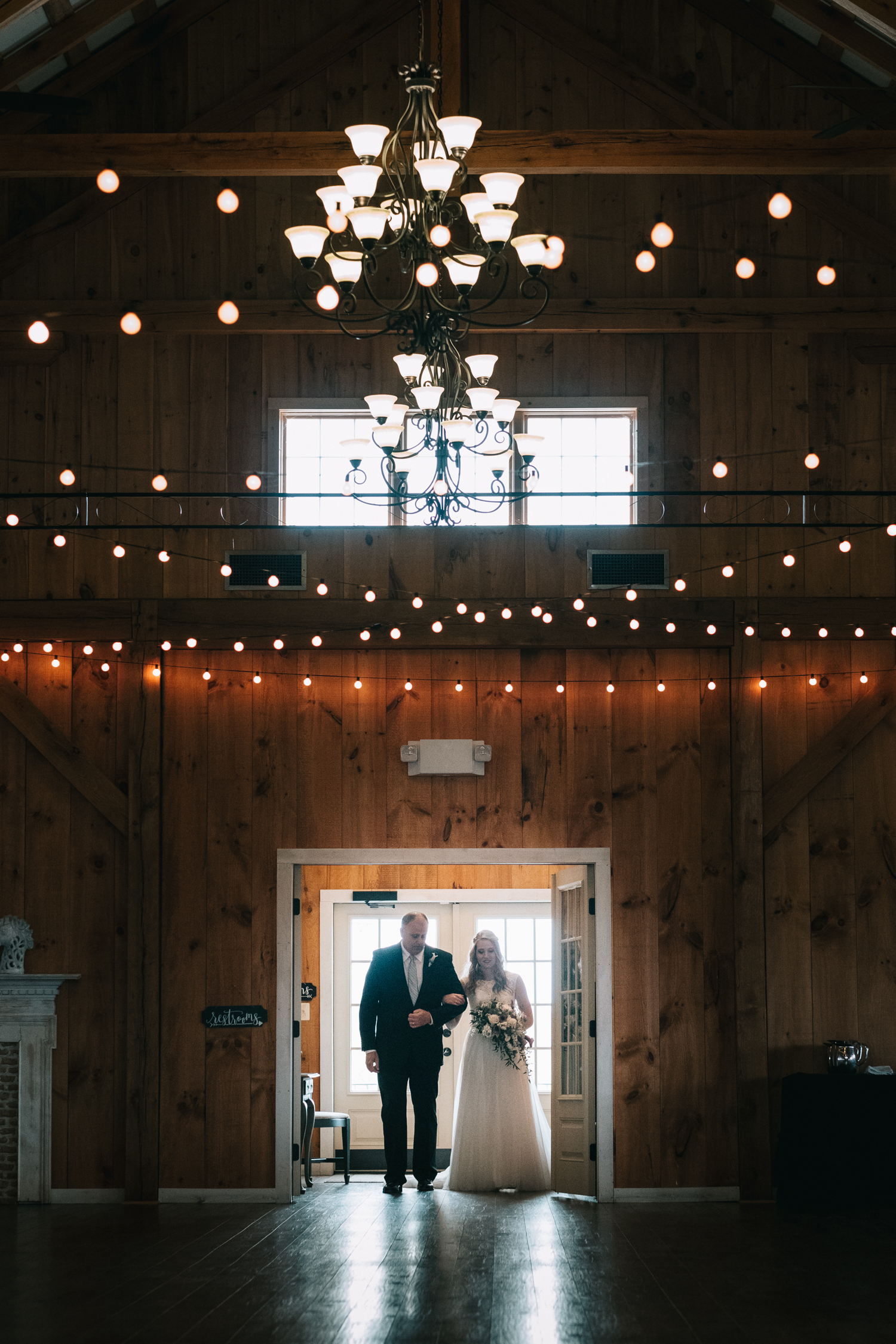 shadow creek purcelleville bridal entrance indoor wedding