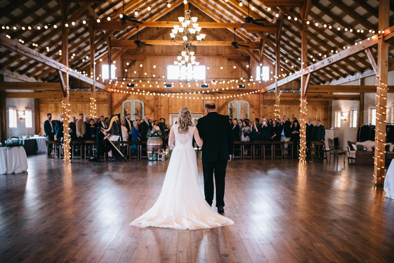 shadowcreek indoor wedding entrance northern virginia
