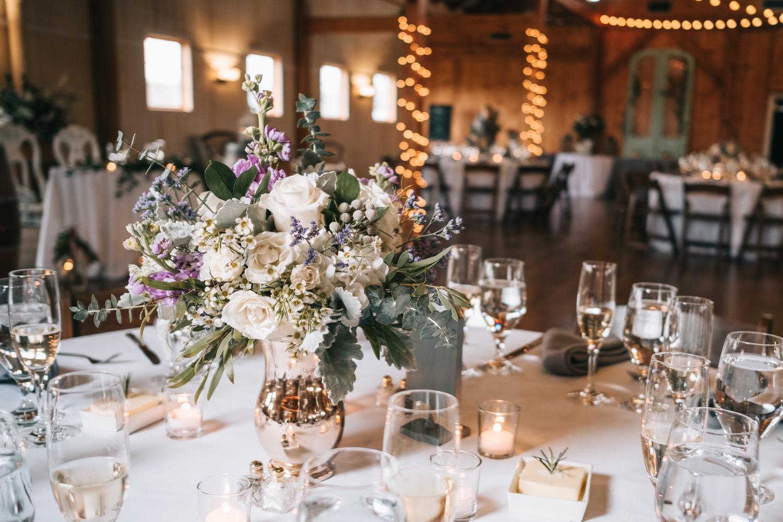 northern virginia barn wedding reception table design