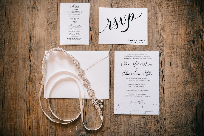 dc wedding stationary details