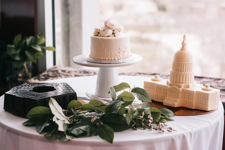 Washington DC Themed Wedding Cakes