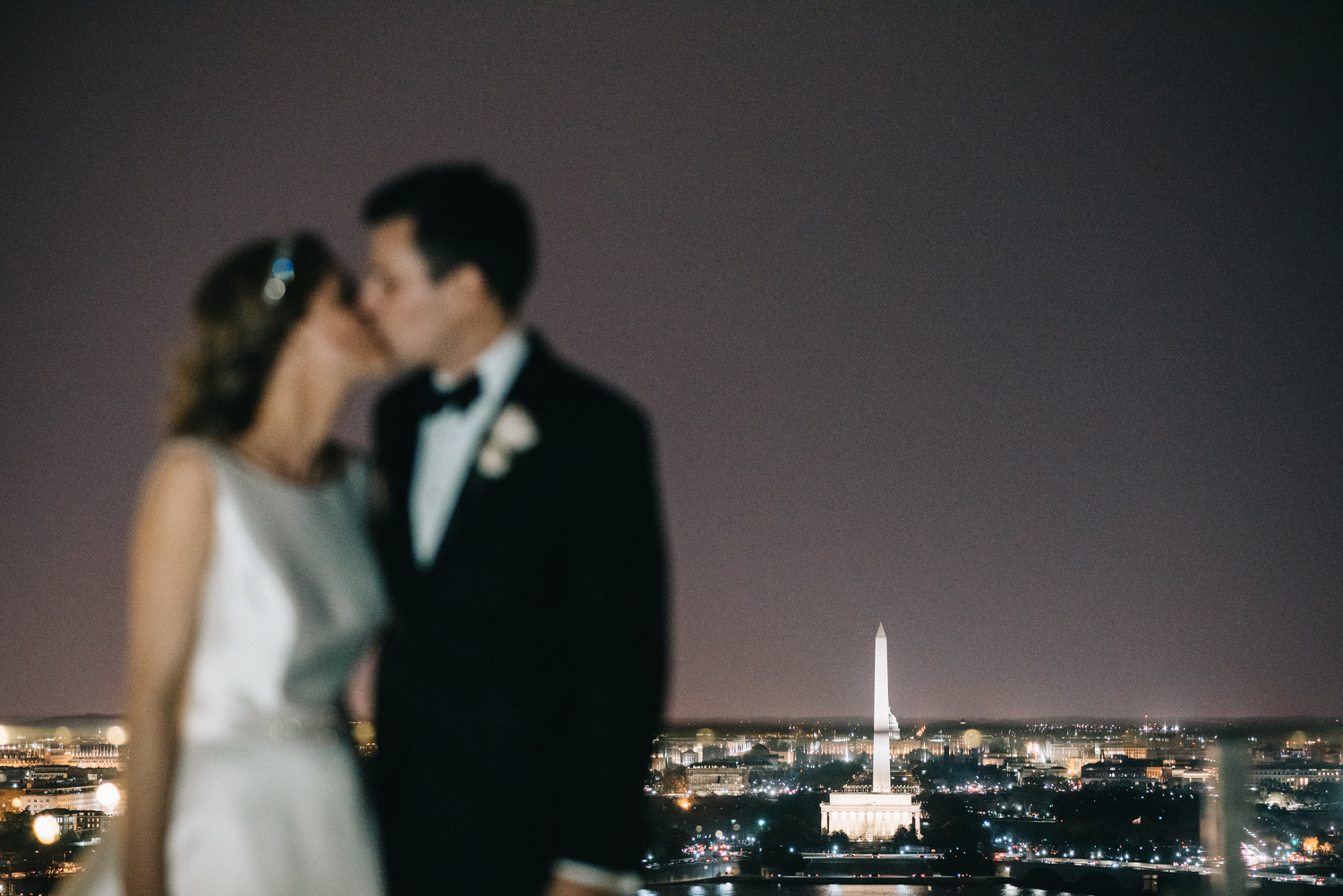 Top of the Town Night Portraits Wedding