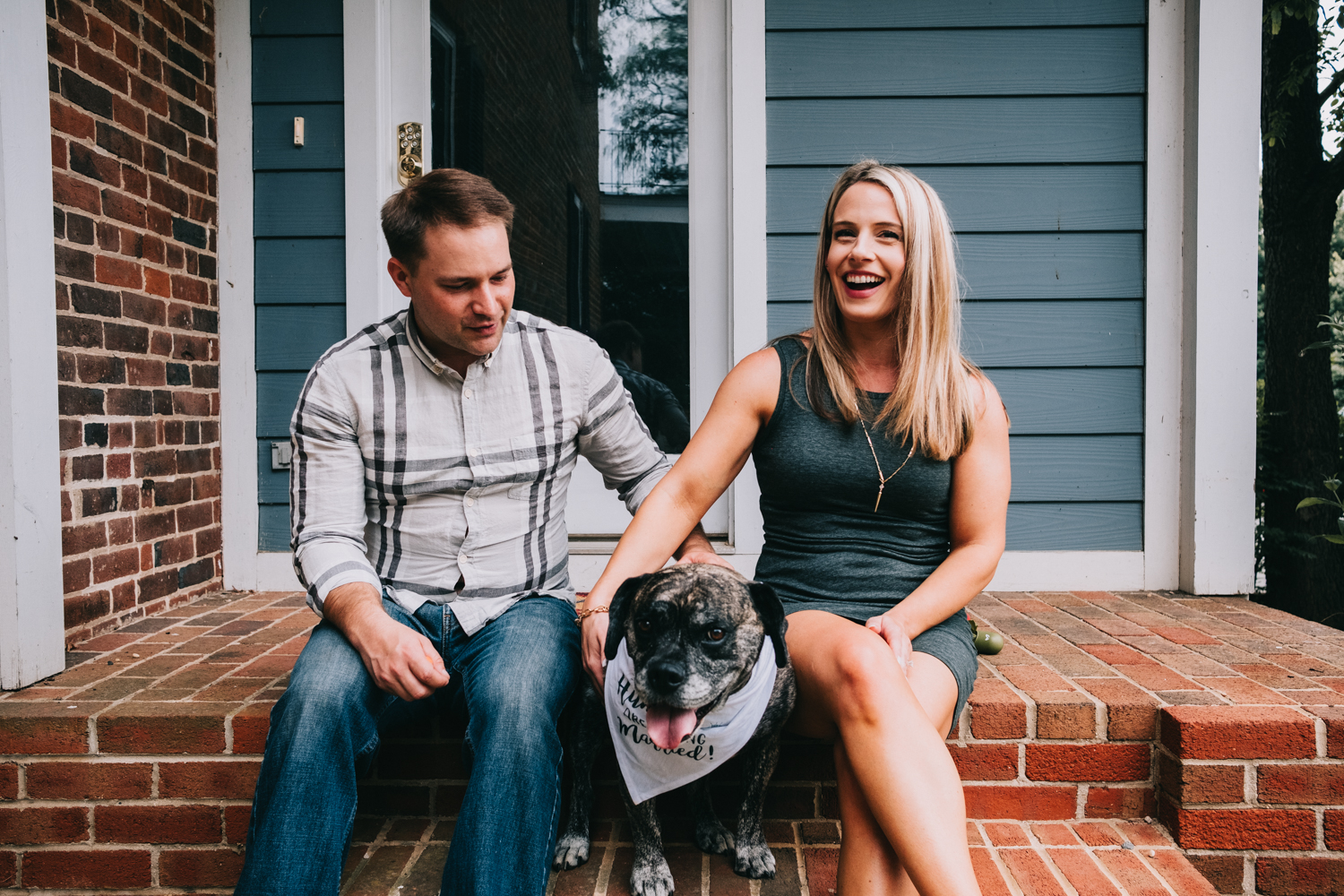virginia engagement photos with dogs
